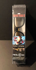 2013 MARVEL IRON MAN 3 COLLECTIBLE 3D GLASSES IN SPECIAL PACKS SET OF 4