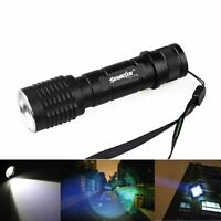 5000 Lumens Zoomable Cree XM-L T6 LED Flashlight Focus Torch Zoom Lamp Light USA