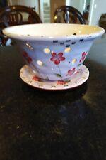 New listing Never Used Bella Casa by Ganz Floral Colander Strainer Fruit bowl with baseplate