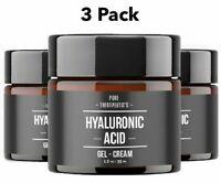 3 Pack Hyaluronic Acid Gel Cream Anti-Aging Wrinkle Face & Eye Serum Moisturizer