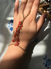 Multi Bracelet Bangle Slave Chain Link Interweave Finger Rings Hand Harness