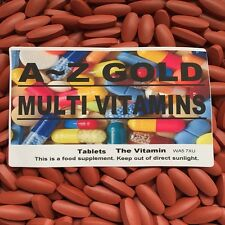 "1000 MULTI VITAMIN TABLETS - A~Z GOLD - ""BUY IN BULK"""
