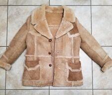Rare Vtg Piapa Ltd. New York Genuine  Sheepskin Malboro Fur Coat USA - Size 40