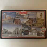 ITALY CARRARO COOKIE TIN TRINKET BOX- I LOVE ITALY-  Pictures of Popular Places