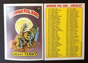 Creepy Terry 5b UK Garbage Pail Kids Series 1(1985)Checklist~NMT/MINT~Pack Fresh