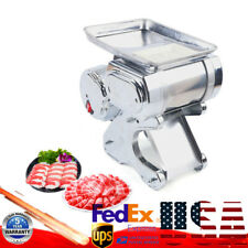 550w Commercial Electric Meat Slicer Food Beef Mutton Cutter Machine 55kgh 110v