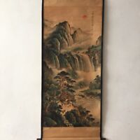 Chinese Old Antique Hand painting scroll By ZHANGDAQIAN 张大千 Landscape