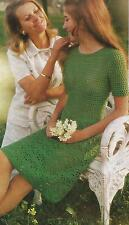 "Ladies Crochet Dress Pattern Double Knitting 30-36""   Retro 114"