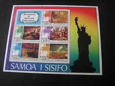 SAMOA, SCOTT # 428a-432a(5), SOUVENIR SHEET 1976 AMERICAN INDEPENDENCE ISSUE MNH