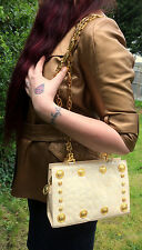 Gianni Versace Very Rare 1992  Patent Leather medusa medallions  Vintage bag