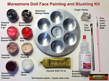 M00150 MOREZMORE Doll Face Painting Blushing Kit Genesis Paints Brushes A60