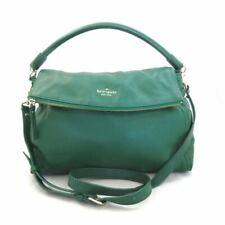 Kate Spade Little Minka Cobble Hill Green Leather Crossbody Bag Purse 0613CD