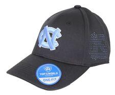 """North Carolina Tarheels NCAA TOW """"Rails Black"""" Stretch Fit Performance Mesh Hat"""