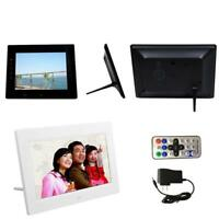7 inch HD LCD Screen Digital Photo Frame with Alarm Clock Slideshow MP3/4 Player