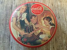 1992 Bristol Ware Drink Coca Cola Coke Round Metal Tin Box Container