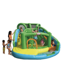 Little Tikes 2-in-1 Wet n Dry Waterslide and Bouncer Inflatable Bounce House