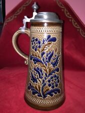 "Vintage Marzi & Remy Stoneware Beer Stein 12 3/8"" Tall"