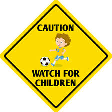 "*Aluminum* Caution Watch For Children Sign Funny Metal Novelty Sign 12""x12"""
