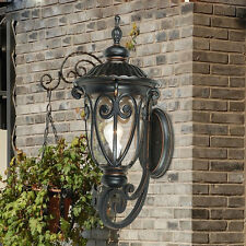 European Style 1 Light Black L 23Cm*W18Cm*H46.5Cm Decoration Outdoor Wall Lamp &