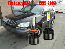 Led For Lexus Rx300 1999 2003 Headlight Kit 9006 Hb4 White Cree Bulbs Low Beam