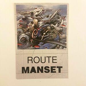 "MANSET ♦ CARTE PROMO ""ROUTES"" ♦ murat, bashung, cabrel, françoise hardy,"