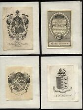 More details for 18th ?- early 20th century bookplate lot from old gents collection
