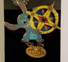 Disney Pin Le Dcl Stitch With Compass Artist Choice Cruise Line Spinner Lilo