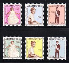 Luxembourg 1961 MNH Mi 649-654 Sc B222-B227 Prince Henri Caritas set