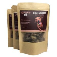 Brooster+Lil Super Healthy Dog Treats, 100% Pure Beef, Box of 20