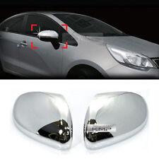 Chrome SIlver Mirror Cover Molding Garnish LED Type LH+RH For KIA 2012-2017 Rio