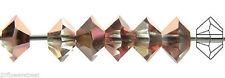 36 Czech MC Spacer Beads (Squished Diamond shape 5305) 3x5mm, Cry Capri Gold H.