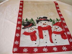 New! Holiday Winter Snowmen Snowman Kitchen Table Runner Dining Table Runner