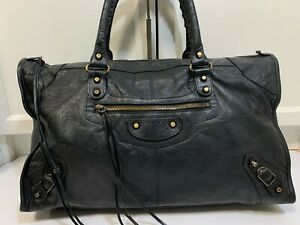 Authentic S/S 2013 Balenciaga Work Black Leather Classic Hardware not City #156