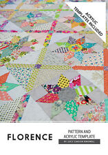 Quilt Pattern & 7 Acrylic Template Set ~ FLORENCE ~ by Jen Kingwell