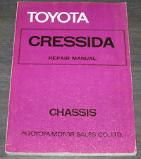 Werkstatthandbuch Repair Manual Toyota Cressida Typ RX 30 / RX 35 Stand 1977