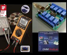 USB Multimeter VA18B + USB Relaiskarte + DMM ProfiLab Software