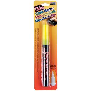 Bistro Chalk Marker Fine Point 1/Pkg-Fluorescent Yellow Marvy