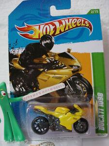2012 Hot Wheels #2 Treasure Hunt DUCATI 1098 #52 ∞Yellow motorcycle ∞Hot Wheels
