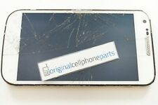 OEM Samsung Galaxy S2 SGH-T989 LCD with Digitizer and Frame CRACKED LENS WHITE