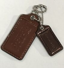"COACH Fob Poppy Big Charm Hangtag Choco Brown &Mirrored Brown, longest 3"" NWOT"