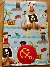 Pirate Birthday Wrapping Paper (Inc 2 Sheets & 2 Tags)