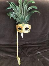 Original Venitian Mask Hand Made In Venice L'atelier Della Maschera NWT Green