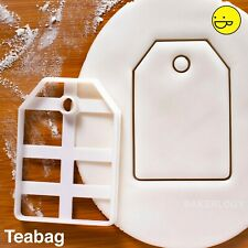 Teabag cookie cutter | personalised gift biscuit tags high tea party