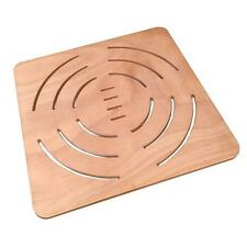 Pedana doccia antiscivolo 72x72 in okumè marino per piatto doccia 90x90 cm