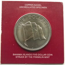 Bahamas 1974 Nation Flag 5 Dollars Coin,BU