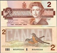 CANADA 2 DOLLARS 1986 P 94 b Thiessen-Crow AUNC ABOUT UNC