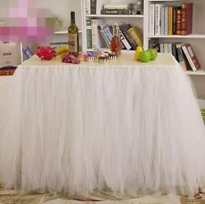 tulle tutu table skirt White
