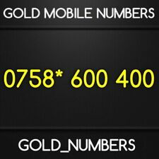 GOLD MOBILE NUMBER MEMORABLE 600400 VIP EASY GOLDEN PHONE NUMBER 0758*600400