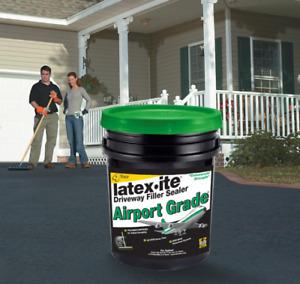 Asphalt Driveway Filler Sealer 4.75 Gal Airport Grade Non-Skid Easy Stir Low-VOC