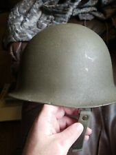 Original French M51 Steel Helmet And Liner Dated 1958 Algerian/ Indo China War?